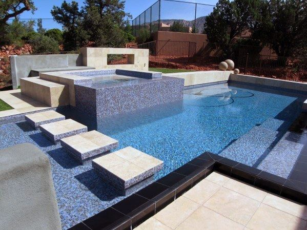 Top 60 Best Home Swimming Pool Tile Ideas Backyard Oasis Designs In 2020 Luxury Swimming Pools Swimming Pool House Amazing Swimming Pools