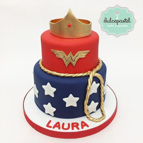 Torta Mujer Maravilla/Wonder Woman - Cake by Giovanna Carrillo