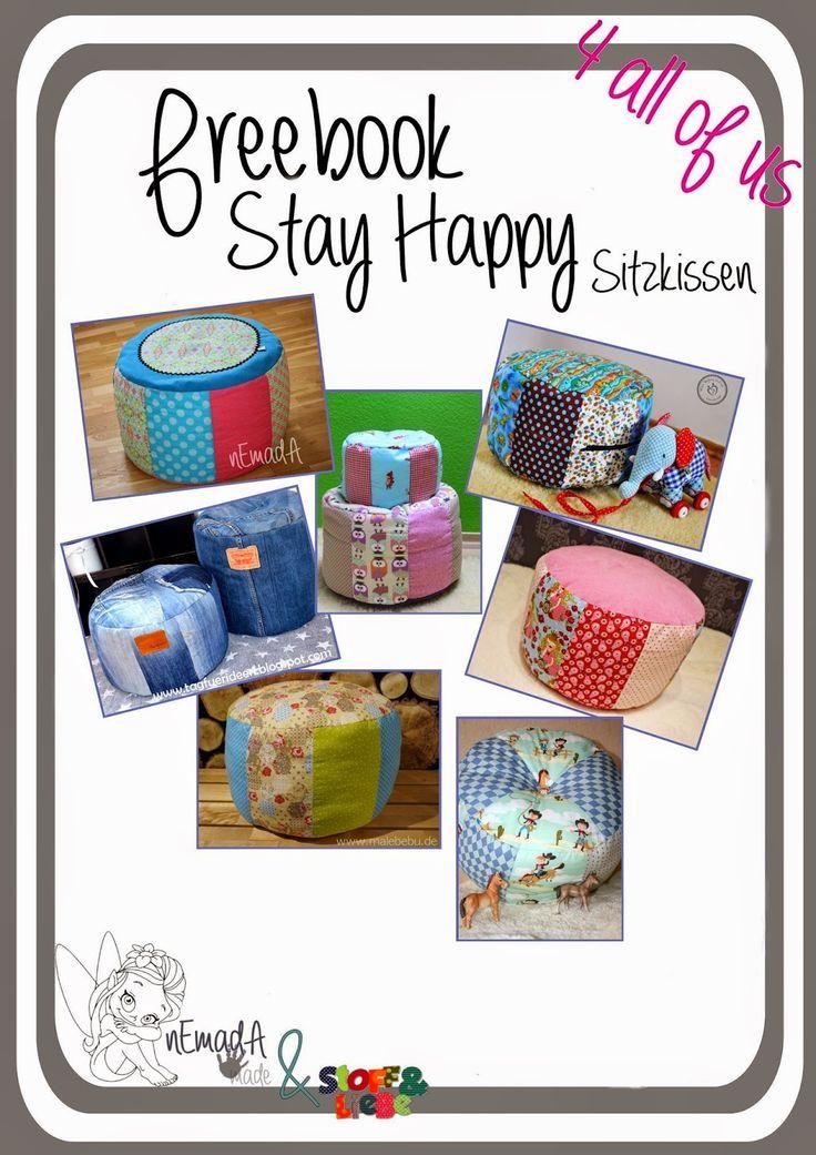 """Stoff & Liebe: Freebook Sitzkissen """"StayHappy"""""""