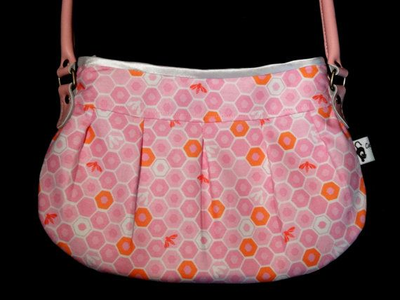 Unique pink handbag one of a kind bag by CatsWhiskersDesigns, £48.50