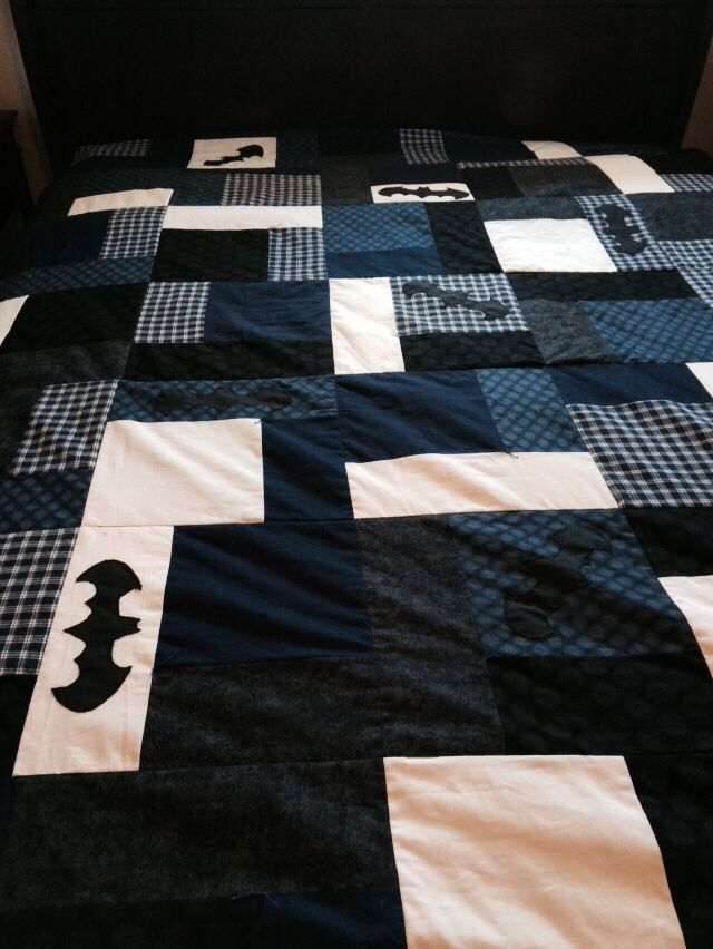 Batman quilt I made for my sons birthday