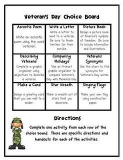 great Veterans day activity!