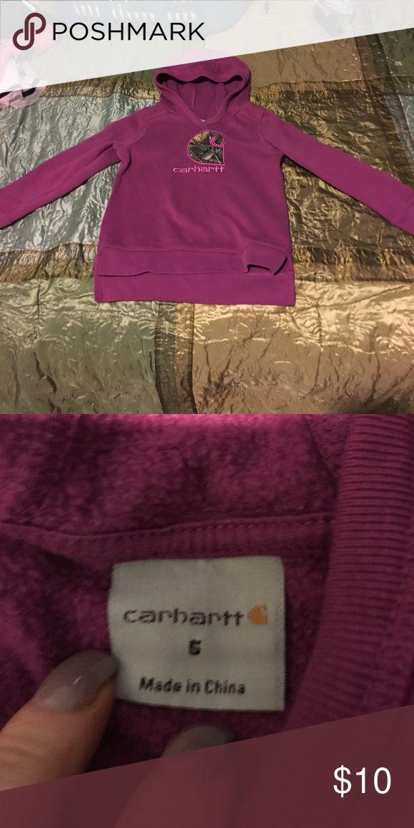Purple carhartt  sweatshirt Adorable purple carhartt sweatshirt perfect condition Shirts & Tops Sweatshirts & Hoodies