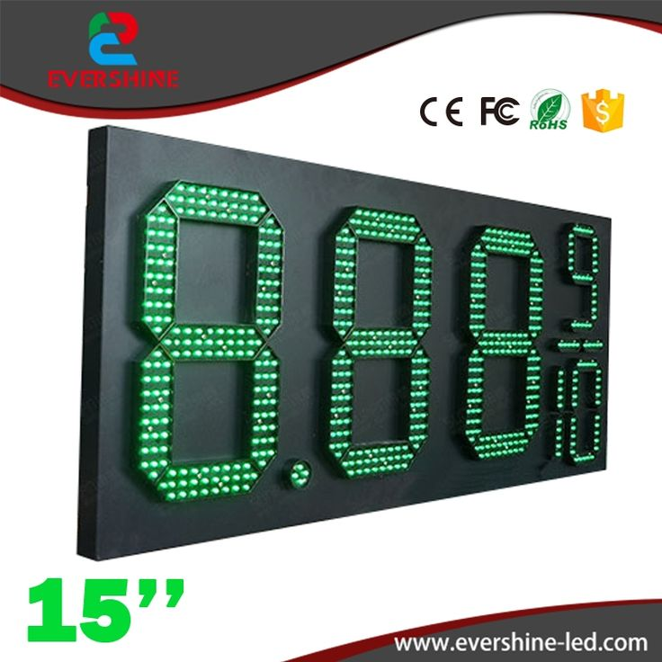 271.00$  Watch now - http://alivp3.worldwells.pw/go.php?t=32759105676 - 15'' 8889/10 Front Access green gas petrol price display/led oil gas station sign/led fuel price sig changer displays board 271.00$
