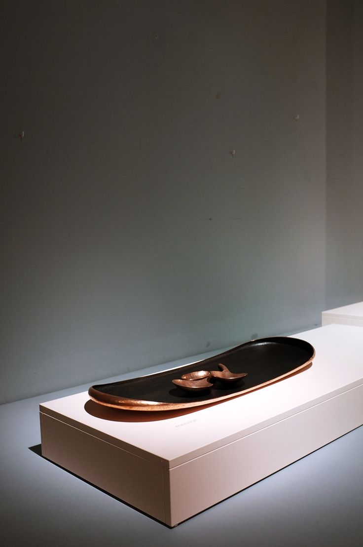 """""""Menage"""" Patinated Copper  Tray and hand chased Cooper Bowls zerunianandweisz for Edition Rauminhalt"""