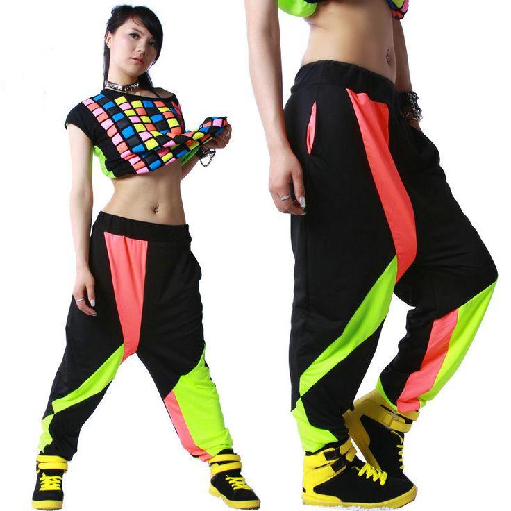 Colorful Patchwork Panelled Hip Hop Dance Pants