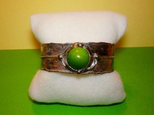 http://megasilver.pl/Bransoleta-p366 #Bracelet #metalwork #handmade #green #howlite #stone #jewelry #jewellery