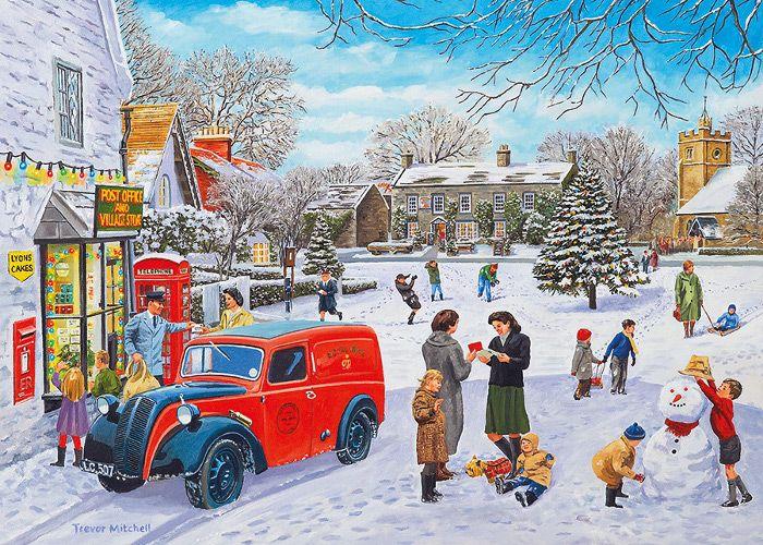 Christmas Post by Trevor Mitchell 500 XL piece jigsaw puzzle