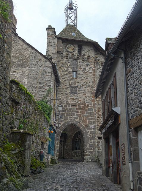 Salers fortification, Cantal, France. 15th c.