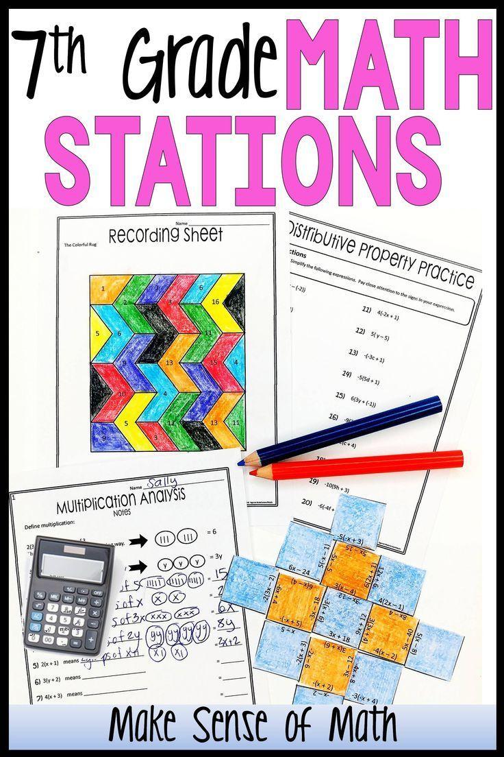 7th Grade Math Stations Mini Bundle Maths Activities Middle School 7th Grade Math Middle School Math Stations [ 1104 x 736 Pixel ]