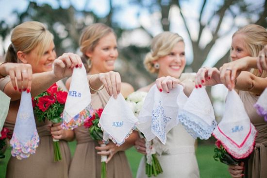 Southern Belle Wedding Traditions ✈ Embroidered Handkerchiefs