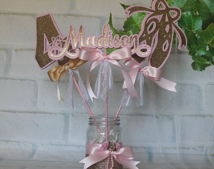 25 best ideas about ballerina centerpiece on pinterest for Ballerina birthday decoration ideas