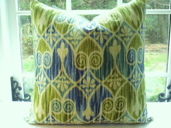 ikat pillow, gorgeous colors!