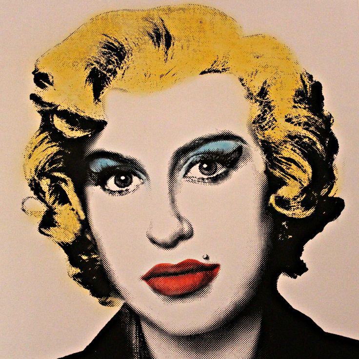 Amy Winehouse as Marilyn Monroe, by Mr.brainwash, Pop Art, Street Art, Grafitti.