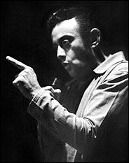 Lenny bruce on stage.jpg  Famous Comedian who pushed the envelope and challenged the decency laws of the time   Died of a morphine overdose