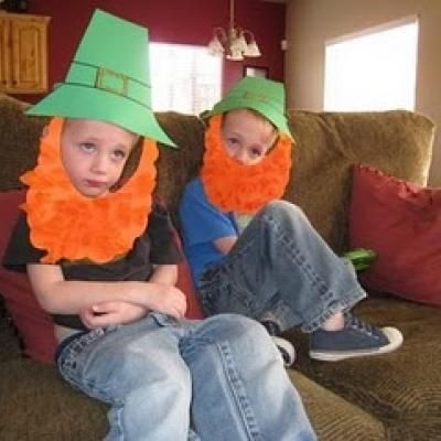 Preschool Crafts for Kids*: St. Patrick's Day Leprechaun Hat and Beard Craft