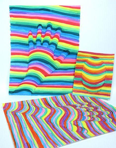 Fun OP-Art Project for Kids! - http://www.oroscopointernazionaleblog.com/fun-op-art-project-for-kids/