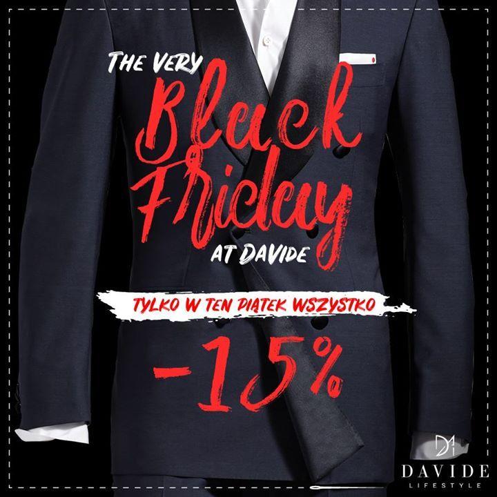 #blackfriday w Davide! To niepowtarzalna szansa aby zaopatrzyć się w upominki prezentowe chwilę wcześniej lub po prostu wybrać dla siebie coś stylowego... Zapraszamy!