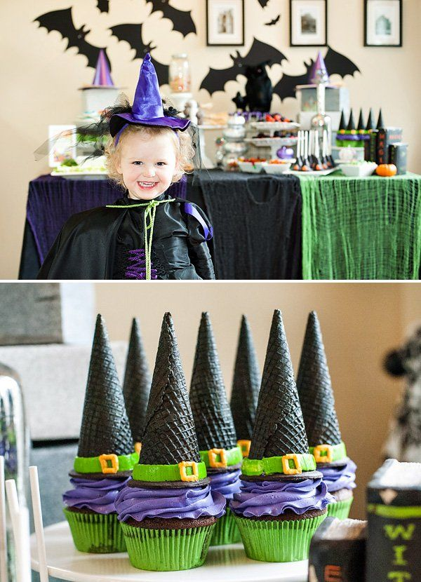 Witch's hat cupcakes  These little goodies (or should that be baddies?) are just the cleverest bakes we've ever seen.