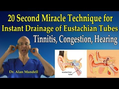 20 Second Miracle Technique for Instant Drainage of Eustachian Tubes (Tinnitis, Congestion, Hearing) - YouTube