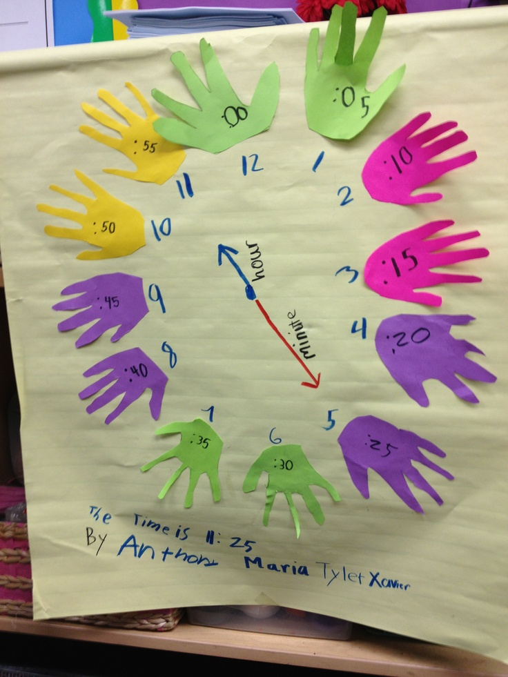 Learning to tell time to five minutes...this is so cute! I am going to make this with my advanced group in centers this week!