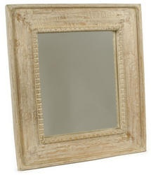 This Beaded Mirror has been hand crafted from solid mango wood and then Naturally Limed for that 'distressed' look.