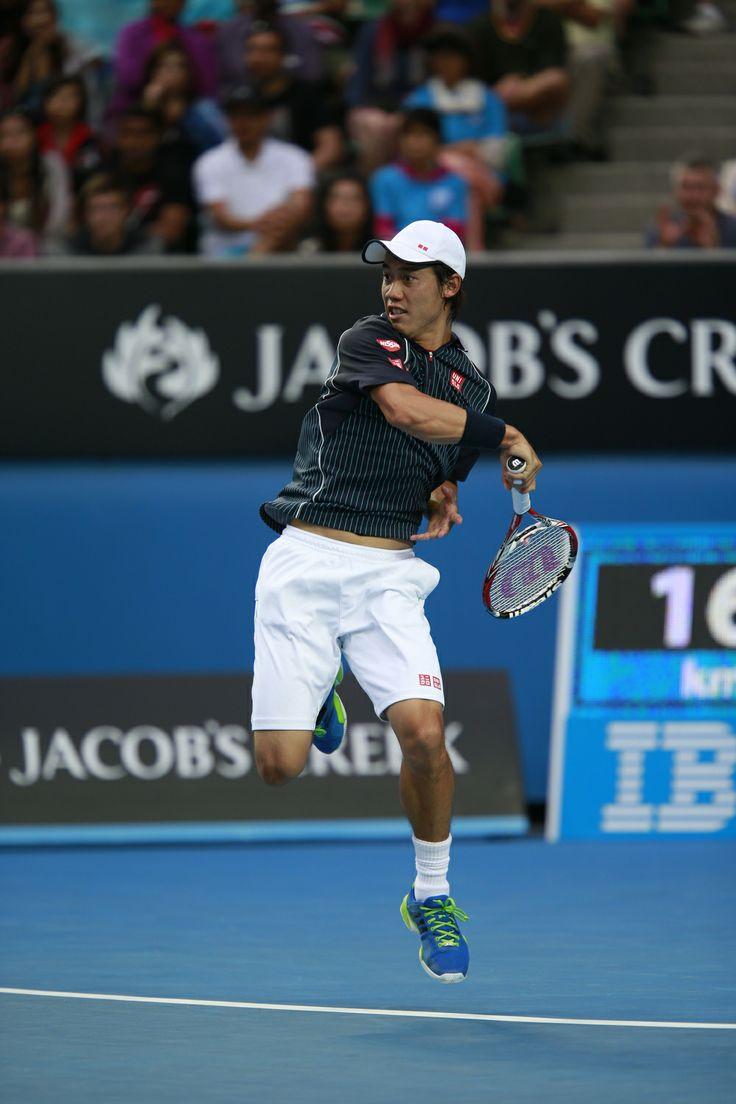 Kei Nishikori at 2014 Australian Open #nishikori #uniqlo #australianopen #tennis