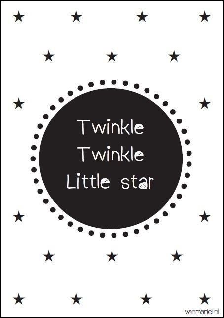 Twinkle Twinkle Little star - Buy it at www.vanmariel.nl - Poster € 3,95 - Card € 1,25
