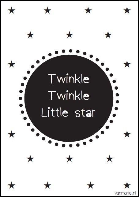 Twinkle Twinkle Little star - Buy it at www.vanmariel.nl - Poster € 3,95 - Card € 1,25