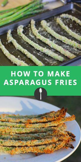 How to make asparagus fries, a healthy alternative to fast food or regular fries. #greatist #spoonuniversity