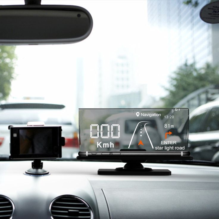 Mount HUD Head Up display cellulare aziendale Telefono supporto di GPS Navigation immagine Riflettore
