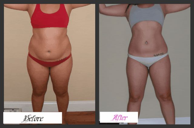30 day shred. She lost only 2lbs but lost 11 inches all over!!! It's not about weight loss, it's about health!