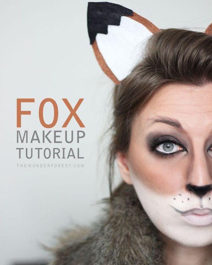 Fox makeup tutorial for Halloween