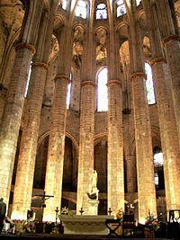 The Església de Santa Maria del Mar, called the finest Gothic castle in Barcelona