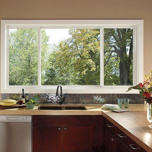 Best 25 sliding windows ideas on pinterest pass through for Exterior kitchen door with window