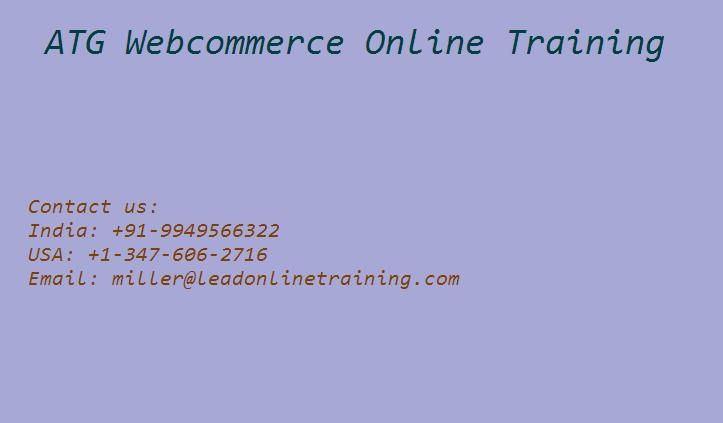 ATG Web Commerce Online training classes by Lead Online Training we have profoundly qualified and superb experienced mentors.Oracle ATG Web Commerce provides an open, server side to build and deploy dynamic applications customized for the Web Applications. Oracle ATG Web Commerce to implement a development model based on the JavaBeans component and JSP.