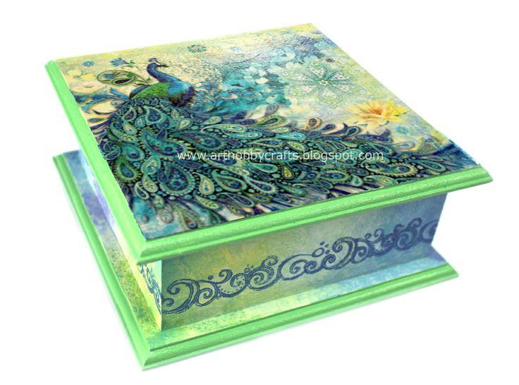 De 25 bedste id er inden for napkin decoupage p pinterest for Wooden box tutorial