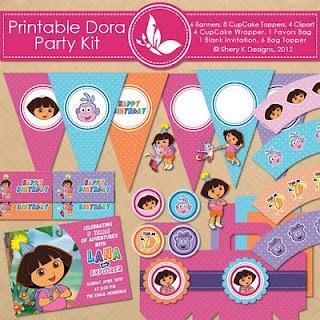 Dora the Explorer. Free Printables. Party Kit.