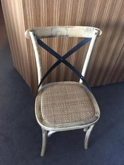 3 Cross Back French Style Chairs | Dining Chairs | Gumtree Australia Boroondara Area - Hawthorn | 1132618910