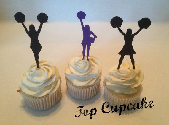 Cheerleader Cupcake Toppers