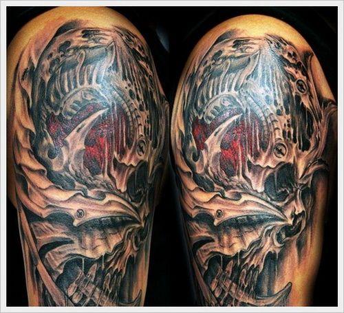 Skull Drama Face Tattoo: Pin On Biomech