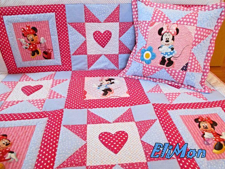quilt for litte girls Minnie love.