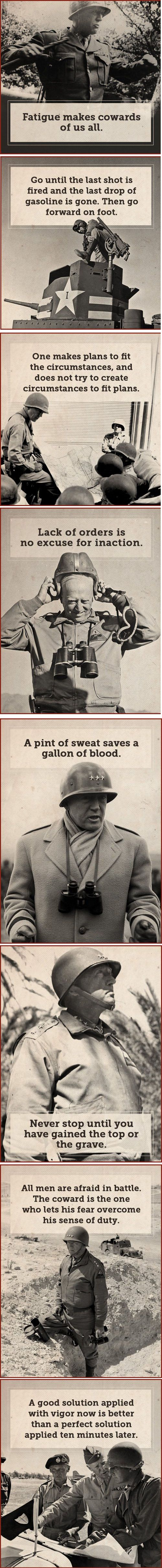 The Maxims of General George S. Patton (from The Art of Manliness) - 9GAG