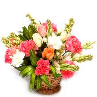 The flowers express the whole feeling of your love, respect, care & affection. This product include a basket arrangement of 20 mix color flowers (Roses, carntions,glades etc) http://www.fnp.com/flowers/midnight-delivery/just-smile-midnight/--clI_2-cI_1089-pI_17463-i_17463.html