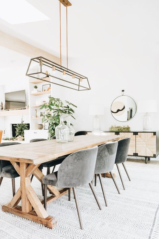 Inspiring Dining Room Decorating Ideas With Modern Style In 2020 Modern Farmhouse Dining Room Dining Room Inspiration Modern Modern Farmhouse Dining