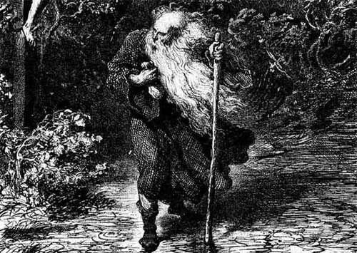 | El Judío Errante, leyenda medieval La leyenda relata que un personaje judío (su caracterización concreta varía según las versiones) negó un poco de agua al sediento Jesús durante el camino hacia la Crucifixión, por lo que este lo condenó a «errar hasta su retorno». Por tanto, el personaje en cuestión debe andar errante por la Tierra hasta la Parusía.