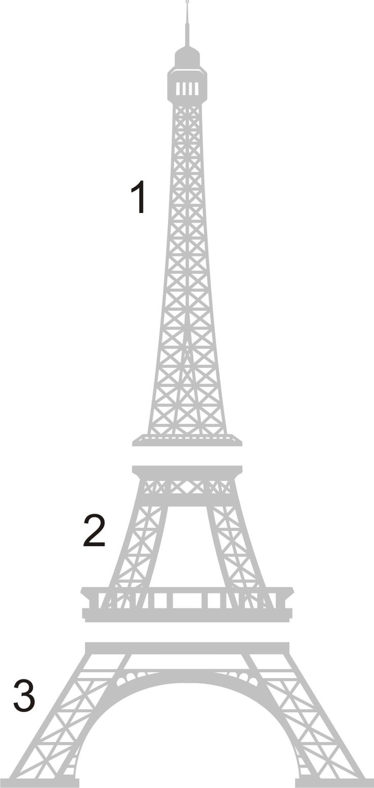How to Draw the Eiffel Tower Step by Step | Wall Decal - 8 Foot Tall Eiffel Tower from Byrdie Wall Decals on ...