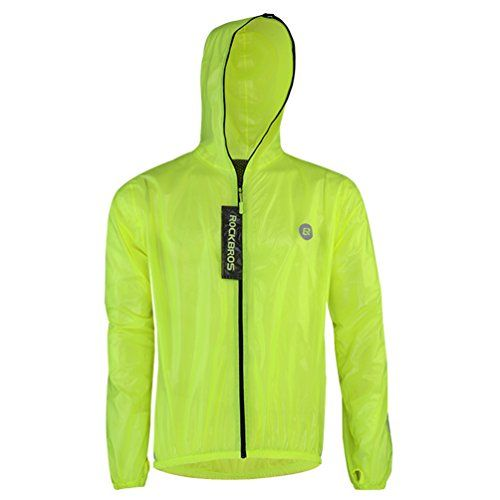 Rockbros Ultra Lightweight Rain Jacket Saftey Outdoor Waterproof Rain Jacket for Men/Women, Reflective Raincoat Green  https://fishingrodsreelsandgear.com/product/rockbros-ultra-lightweight-rain-jacket-saftey-outdoor-waterproof-rain-jacket-for-men-women-reflective-raincoat-green/  Ultra light-weight rain coat, it won't weigh you down dring long term cycling/biking journey yet durable enough to keep you completely dry and comfortable. TPU composite waterproof fabric at t