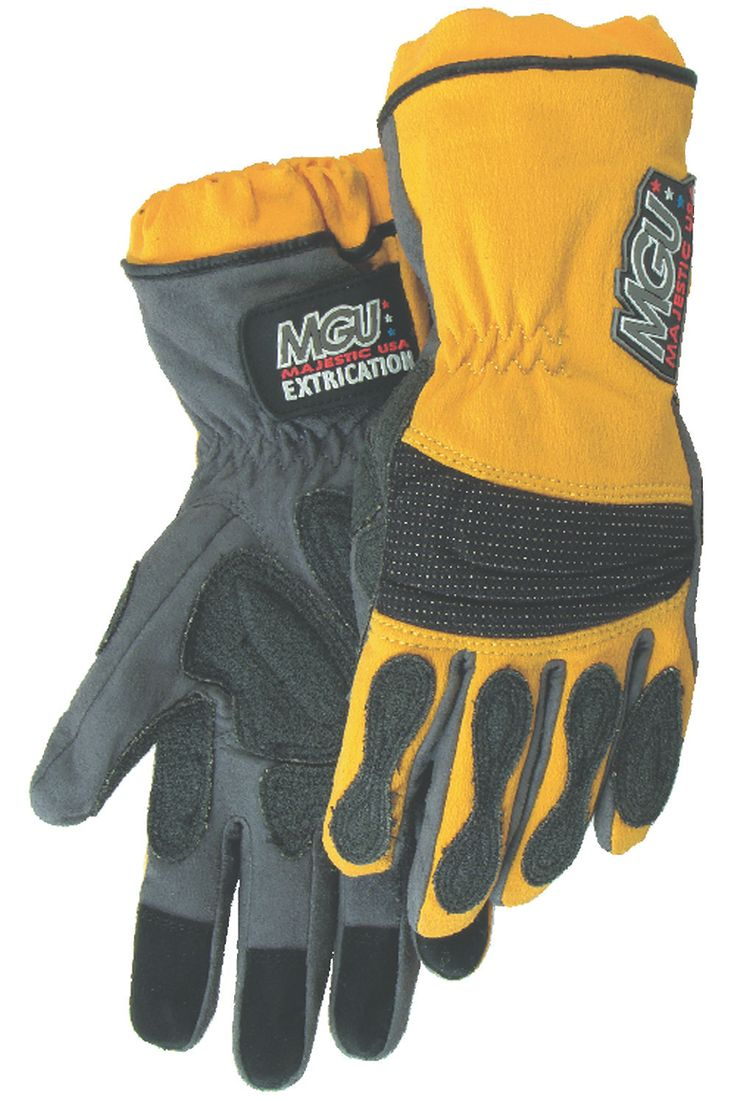 Motorcycle gloves to prevent numbness - Majestic 2164 Extrication Gloves Anti Vibration Reinforced Patches Long Version