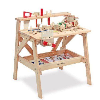 Grand etabli Jouet en bois massif Enfants 3 ans + 61 pcs de constructions